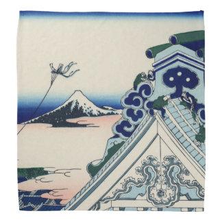 日本語Woodblock: Asakusa Honganjiの寺院 バンダナ