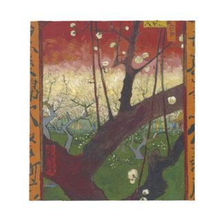 日本趣味:梅の花 (広重の模写) ノートパッド