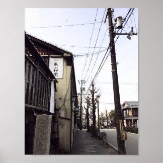 日本通りの電力線ポスター芸術のプリント ポスター