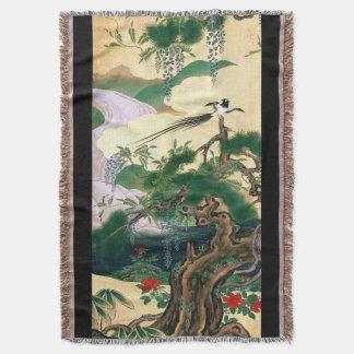 日本鳥の藤によってはブランケットが開花します スローブランケット