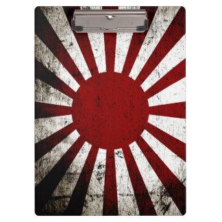 日本黒くグランジな朝日旗 クリップボード