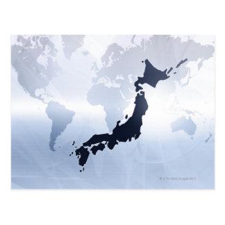 日本2の地図 ポストカード