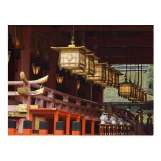 日本、京都、FushimiのInariの壮大な神社2 はがき