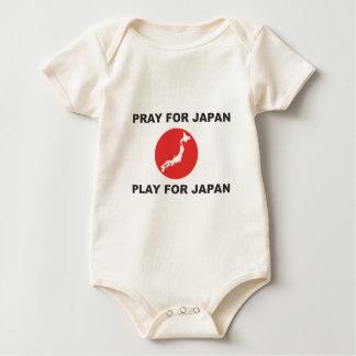 日本、日本のための演劇のために祈って下さい ベビーボディスーツ