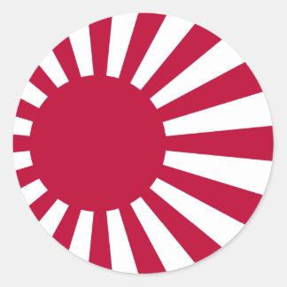 日本、日本の海軍旗 ラウンドシール