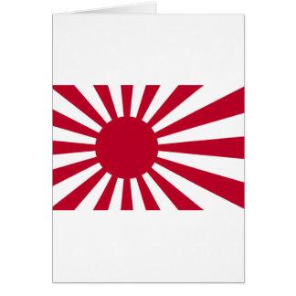 日本-朝日の日本のな旗の海軍旗 カード