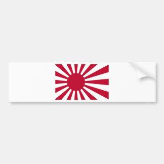 日本-朝日の日本のな旗の海軍旗 バンパーステッカー