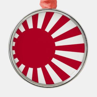 日本-朝日の日本のな旗の海軍旗 メタルオーナメント