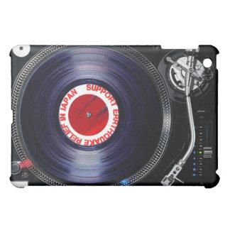 日本[DJのターンテーブル]のサポートerrthquakeのレリーフ、浮き彫り iPad Miniカバー