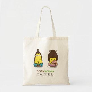 日本Cornnichiwaよい日の挨拶のトウモロコシのトートバック トートバッグ