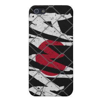 日本MMA黒いiphone 4ケース iPhone 5 Case