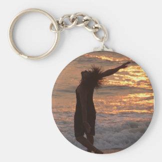 日没で波で踊ること キーホルダー