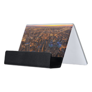 日没で都心のシカゴ デスク名刺ホルダー