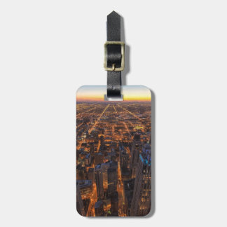 日没で都心のシカゴ ラゲッジタグ