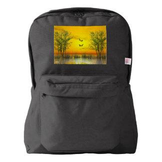日没によるButterlflies - 3Dは描写します American Apparel™バックパック