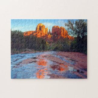 日没にカシの入り江に反映するカテドラルの石 ジグソーパズル