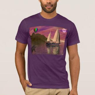 日没に航海 Tシャツ