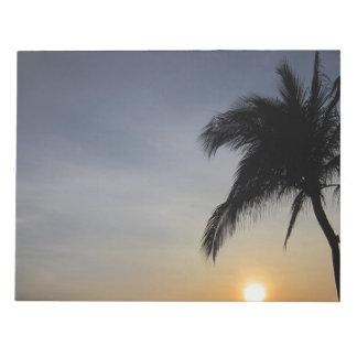 日没のやし ノートパッド