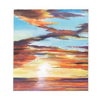 日没のアクリルの絵画 ノートパッド