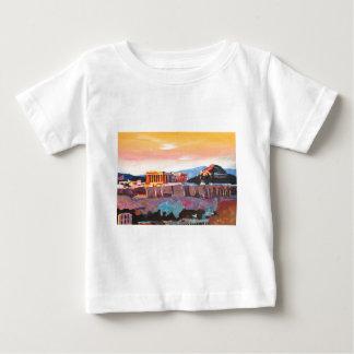 日没のアテネギリシャのアクロポリス ベビーTシャツ