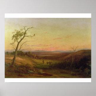 日没のアデレードの眺め ポスター
