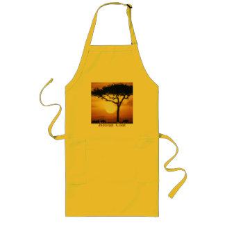 日没のアフリカの調理師 ロングエプロン