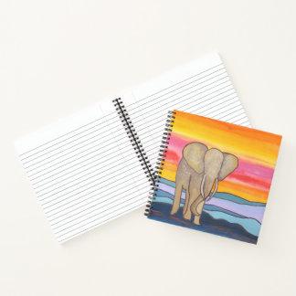 日没のアフリカゾウ ノートブック