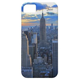 日没のアプローチとして夕方NYCのスカイライン iPhone SE/5/5s ケース