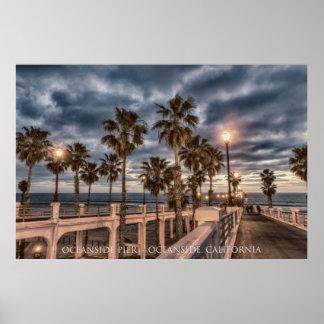 日没のオーシャンサイド桟橋 ポスター