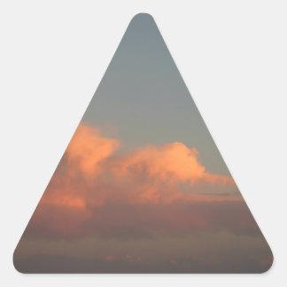 日没のオーシャンサイド桟橋 三角形シール