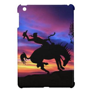 日没のカウボーイのシルエット iPad MINI CASE
