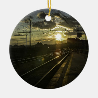 日没のカタニアの鉄道 セラミックオーナメント