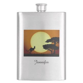 日没のカンガルー フラスク