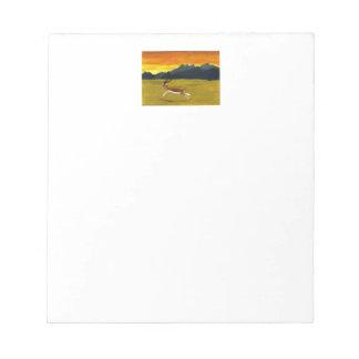 日没のガゼルの野性生物の芸術 ノートパッド