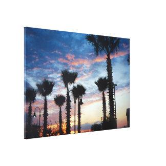 日没のキャンバスプリントの芸術の南西ヤシの木 キャンバスプリント