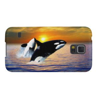 日没のクジラ GALAXY S5 ケース