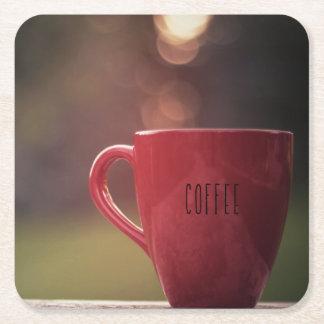 日没のコーヒーコースター スクエアペーパーコースター