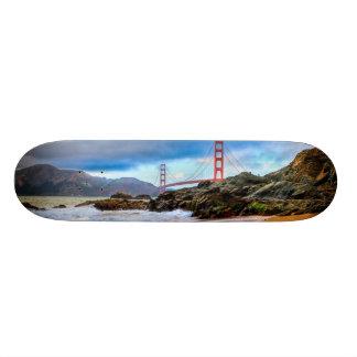 日没のゴールデンゲートブリッジ カスタムスケートボード