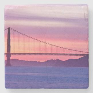 日没のゴールデンゲートブリッジ ストーンコースター