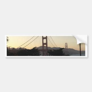 日没のゴールデンゲートブリッジ バンパーステッカー