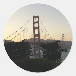 日没のゴールデンゲートブリッジ ラウンドシール