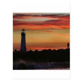 日没のサンタクルスの灯台 ポストカード