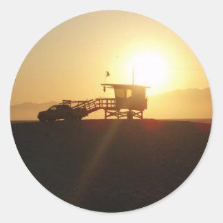 日没のサンタモニカ ラウンドシール