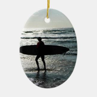 日没のサーフィン セラミックオーナメント