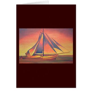 日没のシエナ土の帆 カード