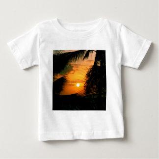 日没のシルエットハワイ ベビーTシャツ