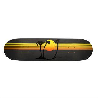 日没のスケートボード スケートボード