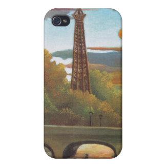 日没のセーヌ河およびエッフェル塔- Rousseau iPhone 4 ケース