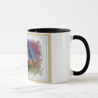 日没のデザイン、カールズバッドカリフォルニア マグカップ