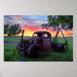 日没のトラック ポスター